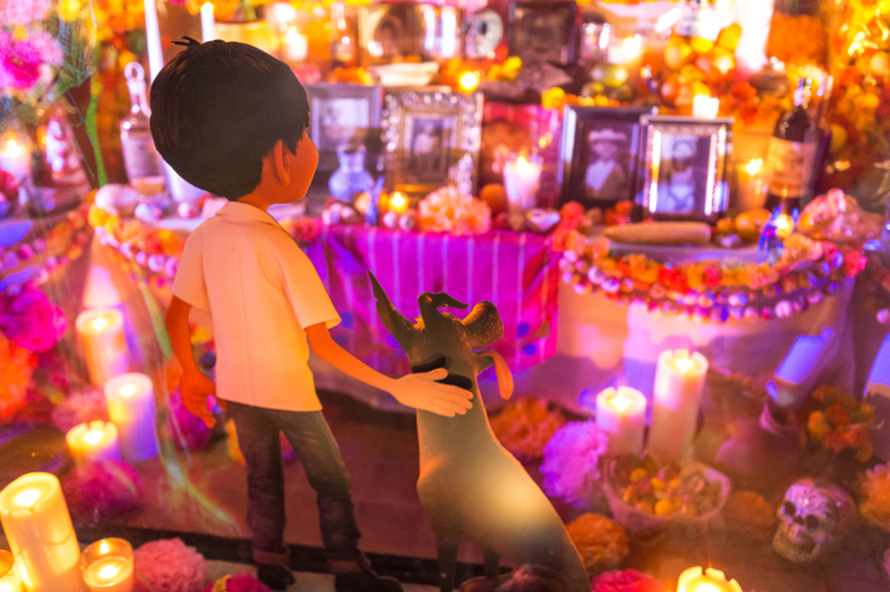 On The Opposite Side Of Exhibit We See Miguel Looking Over His Familys Ofrenda