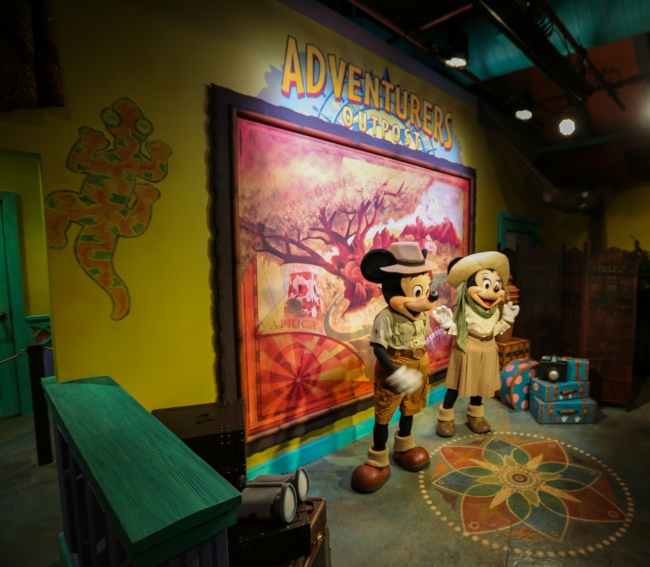Mickey And Minnie Move To The Adventurers Outpost Flame