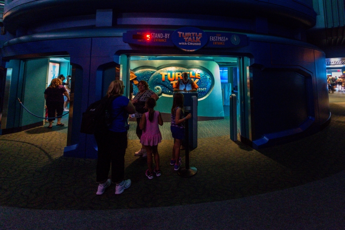 Disney's Epcot Turtle Talk With Crush Review and Information
