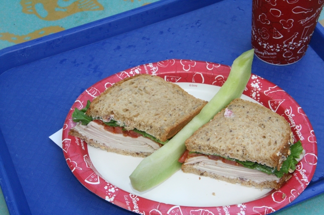 Smoked Turkey Sandwich with Cranberry Mayonnaise Flame Tree